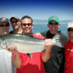 Group Fishing for King Salmon on San Francisco Bay