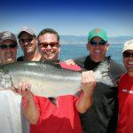 Group Fishing for King Salmon on San Francisco Bay