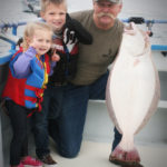 Family Fishing for Halibut on San Francisco Bay