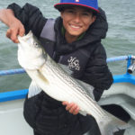Striped Bass Caught on San Francisco Bay