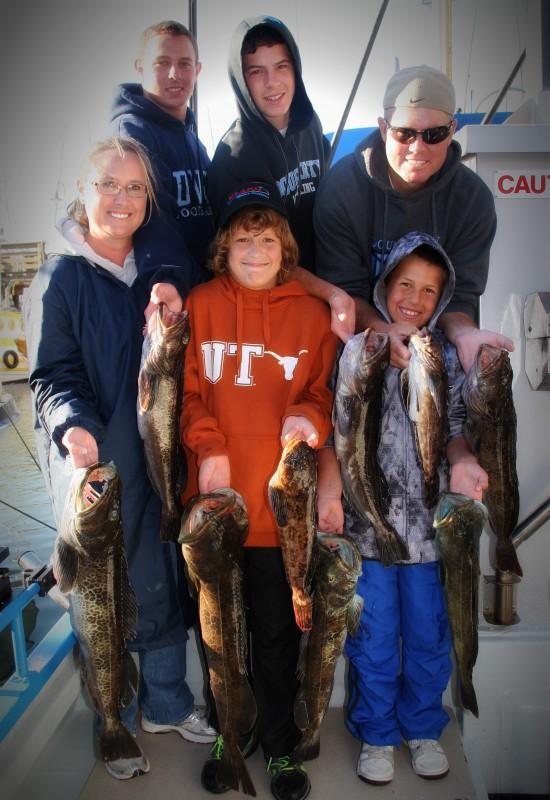 Group Lingcod Fishing Trip on San Francisco Bay